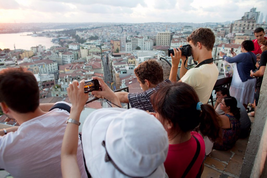 Stock Photo: 1566-1022229 view from the Galata tower, Istanbul
