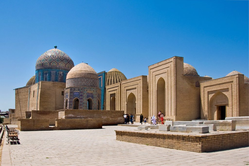 Stock Photo: 1566-1022698 Uzbekistan, Samarkan, Shoi Zinda mausoleum