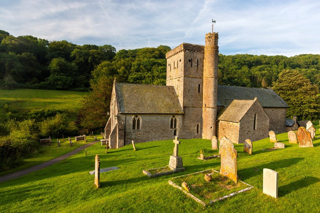 Stock Photo: 1566-1023177 St  Winifred´s Church, Branscombe, Devon, England, United Kingdom, Europe