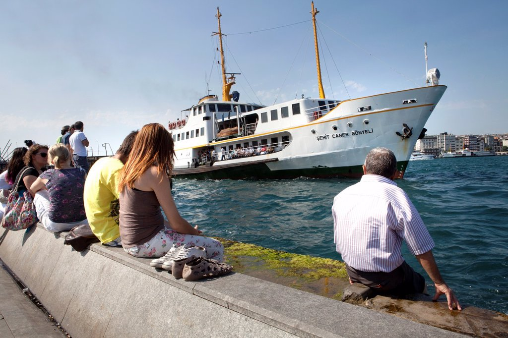 ferry on the Bosphorus, istanbul : Stock Photo