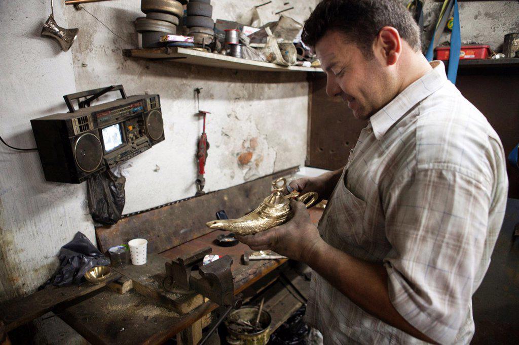 Stock Photo: 1566-1023757 blacksmith in Istanbul