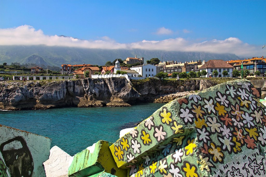 Stock Photo: 1566-1024666 Memory Cubes, by Agustin Ibarrola, LLanes, Asturias, Spain