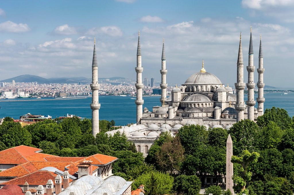 Stock Photo: 1566-1024791 Sultan Ahmed Mosque or Blue Mosque, Istanbul, Turkey