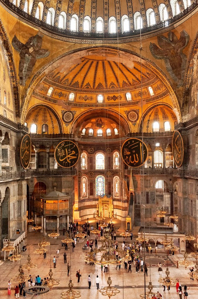 Hagia Sophia, Interior view, Istanbul, Turkey : Stock Photo
