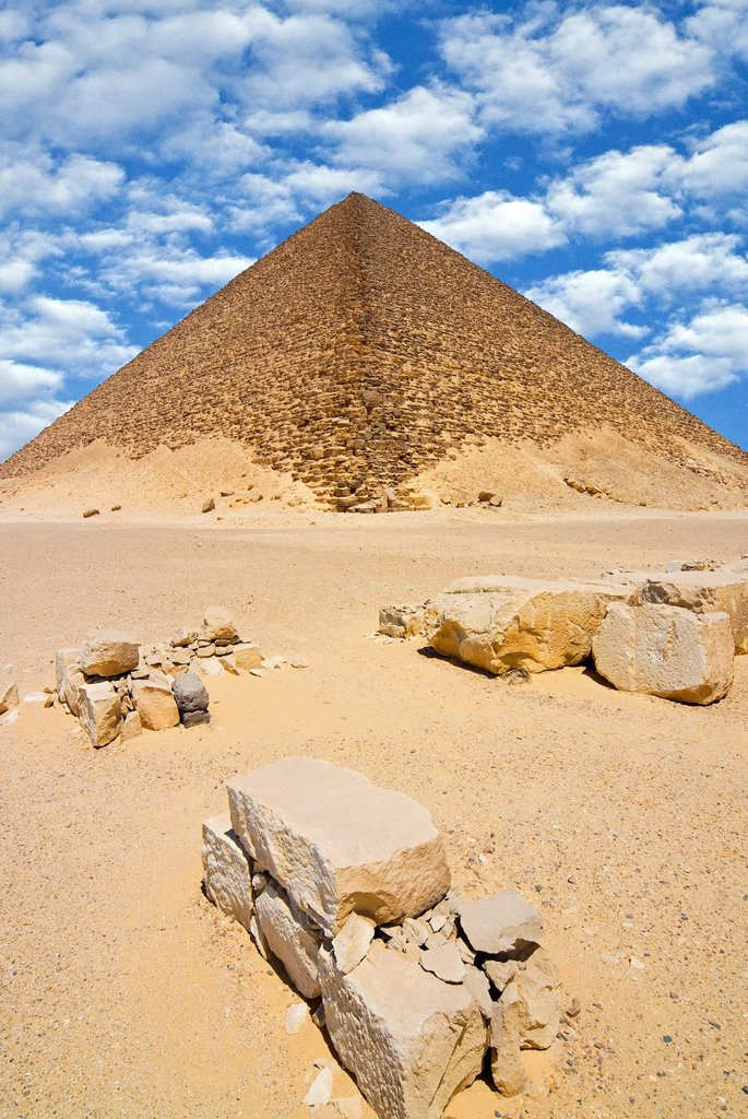 The Red Pyramid Senefru or Snefru Pyramid, Dahshur, UNESCO World Heritage Site, near Cairo, Egypt, North Africa, Africa : Stock Photo