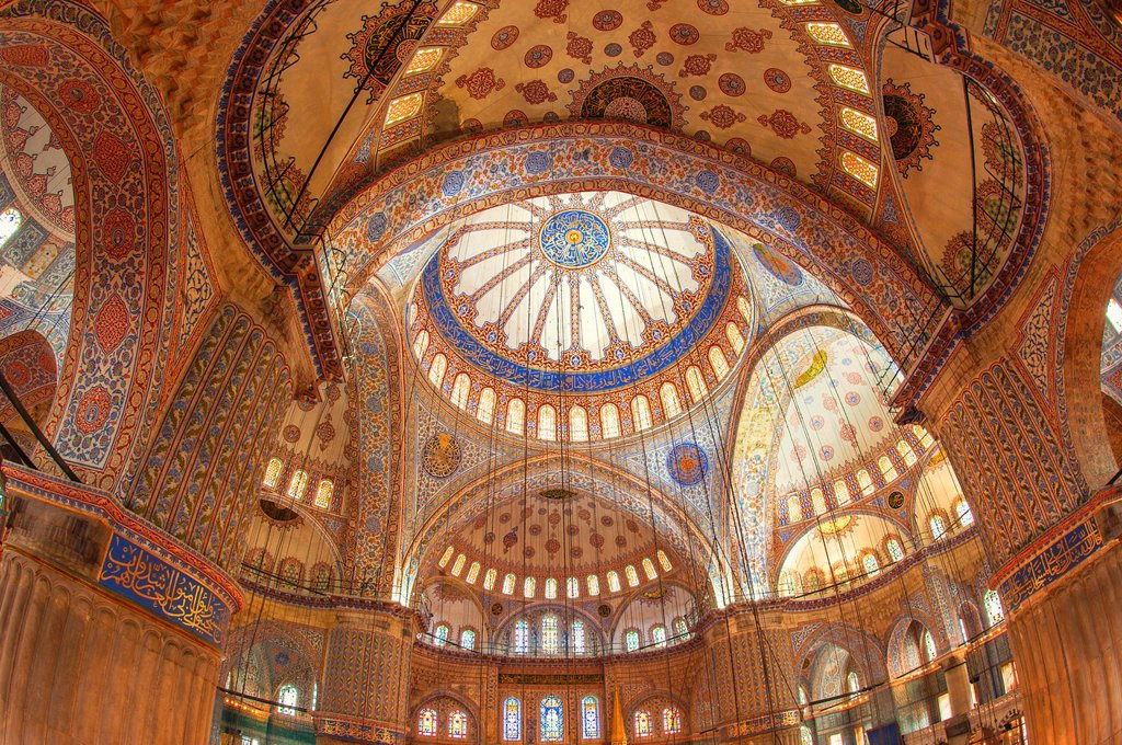 Sultan Ahmed Mosque or Blue Mosque, Main dome, Istanbul, Turkey : Stock Photo