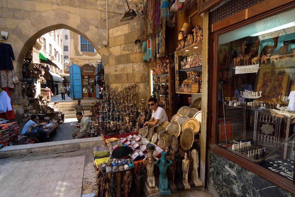 Stock Photo: 1566-1025208 Khan El Khalili Bazaar, Cairo, Egypt, North Africa, Africa