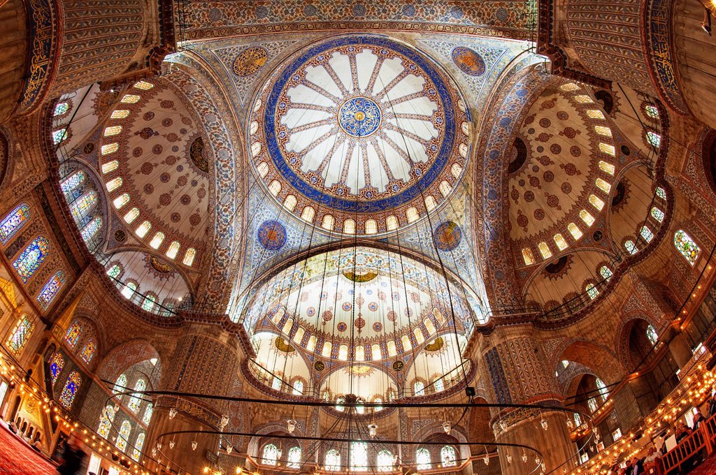 Stock Photo: 1566-1025217 Sultan Ahmed Mosque or Blue Mosque, Main dome, Istanbul, Turkey
