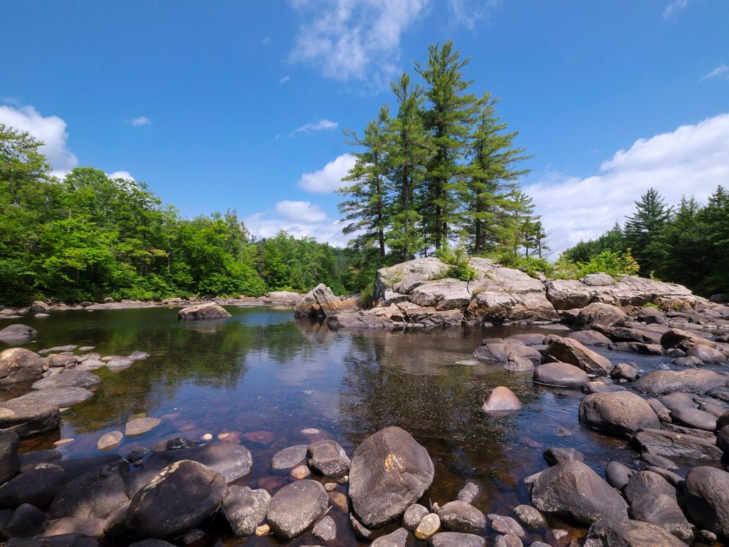 Moose River in the Adirondack Mountains of New York State : Stock Photo