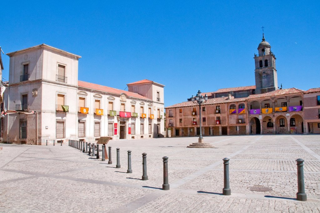 Main Square. Medinaceli, Soria province, Castilla Leon, Spain. : Stock Photo