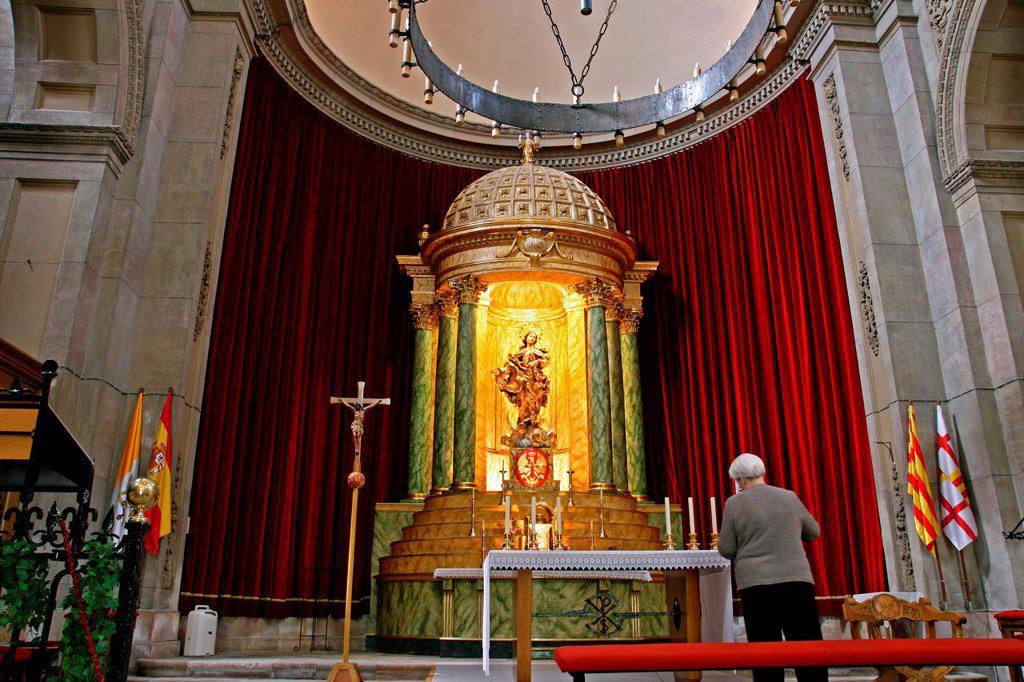 Stock Photo: 1566-1027143 altar, military parish of the Citadel, Barcelona, Catalonia, Spain