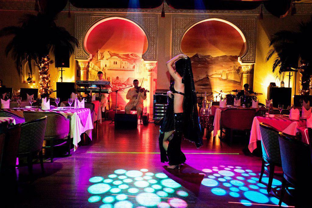 Stock Photo: 1566-1027324 Marrakech restaurant at Millennium hotel, Abu Dhabi, United Arab Emirates, Middle East.