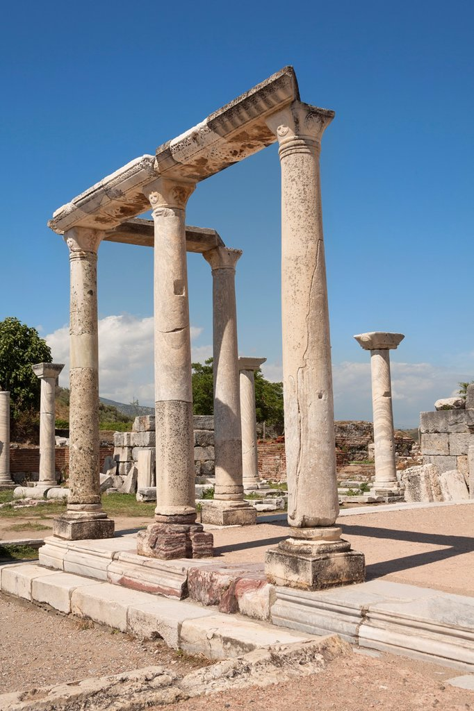 Stock Photo: 1566-1027564 Stone columns at Saint John's Basilica, Selcuk, near Ephesus, Turkey