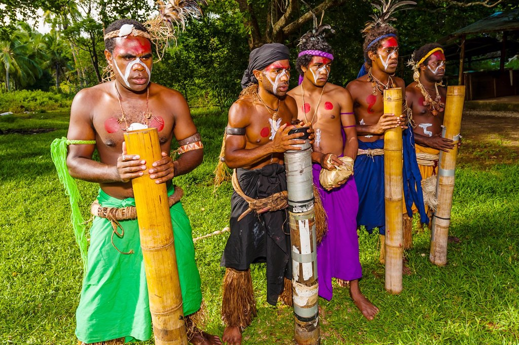Stock Photo: 1566-1027833 Wetr tribal dancers, Hnathalo, Lifou island, Loyalty Islands, New Caledonia
