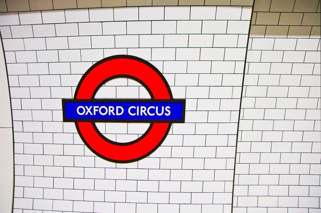 Stock Photo: 1566-1028097 Oxford Circus Subway Station  London  England  United Kingdom  UK  Europe.