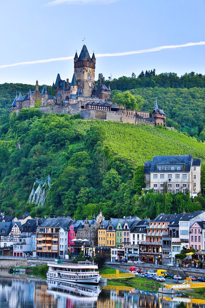 Stock Photo: 1566-1028101 Germany , Mosental , Mosel Valley , Cochem City , Cochem Castle