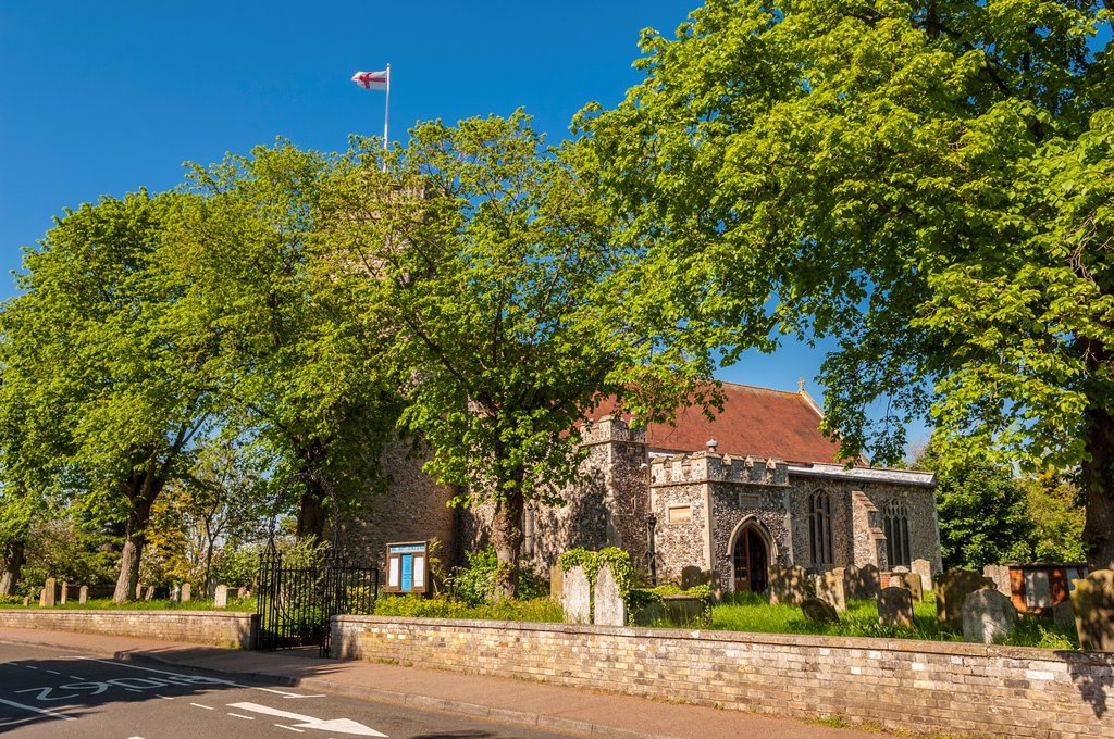 Stock Photo: 1566-1028433 The Holy Trinity Church in Bungay , Suffolk , England , Britain , Uk