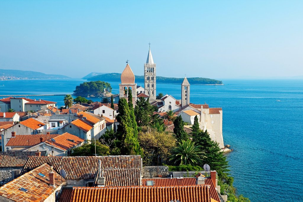 Stock Photo: 1566-1028563 View from Christoph Church, Rab Island, Croatia.