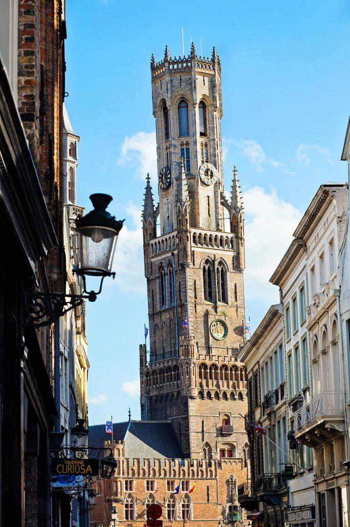 Stock Photo: 1566-1028570 Belfort, Belfry, Markt Place - Market Square, Brugge, Bruges, Flanders, Belgium.