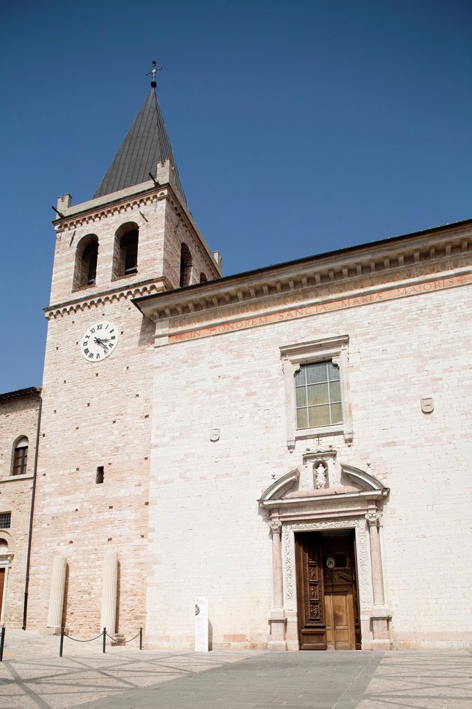 europe, italy, umbria, spello, st maria maggiore church : Stock Photo