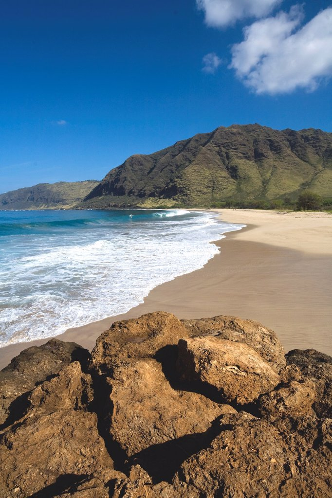 Stock Photo: 1566-1030399 Makua Beach, Leeward Oahu, Hawaii, USA