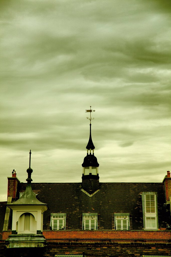 Stock Photo: 1566-1030432 Roof Spire and Weather Vane