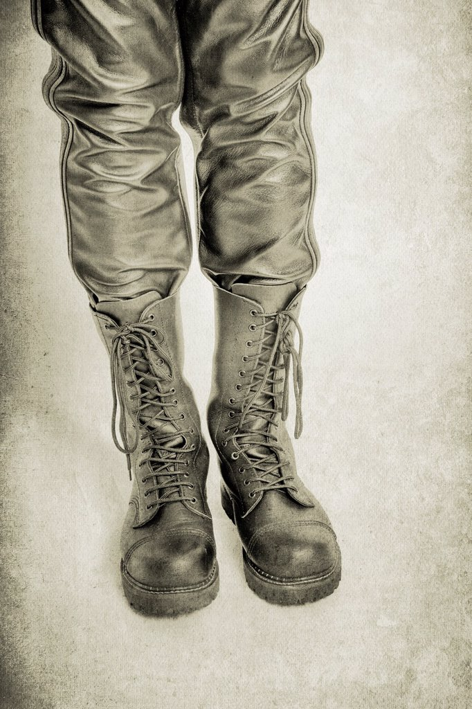 Leather Trousers and Boots : Stock Photo