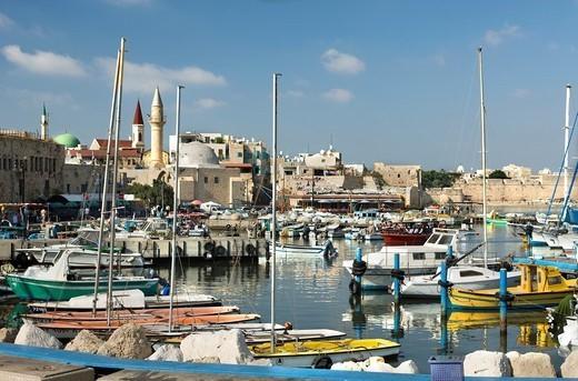 PORT OLD CITY ACCO ISRAEL : Stock Photo