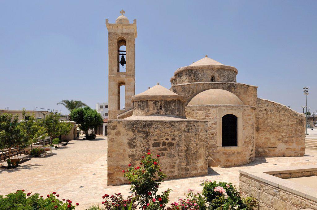 Byzantine church of Agia Paraskevi, Yeroskipou, east of Paphos, Cyprus, Eastern Mediterranean Sea : Stock Photo