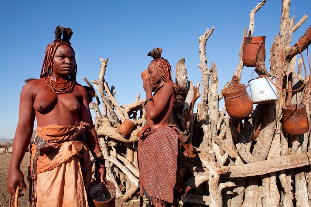 Stock Photo: 1566-1031096 Himba tribe in Namibia