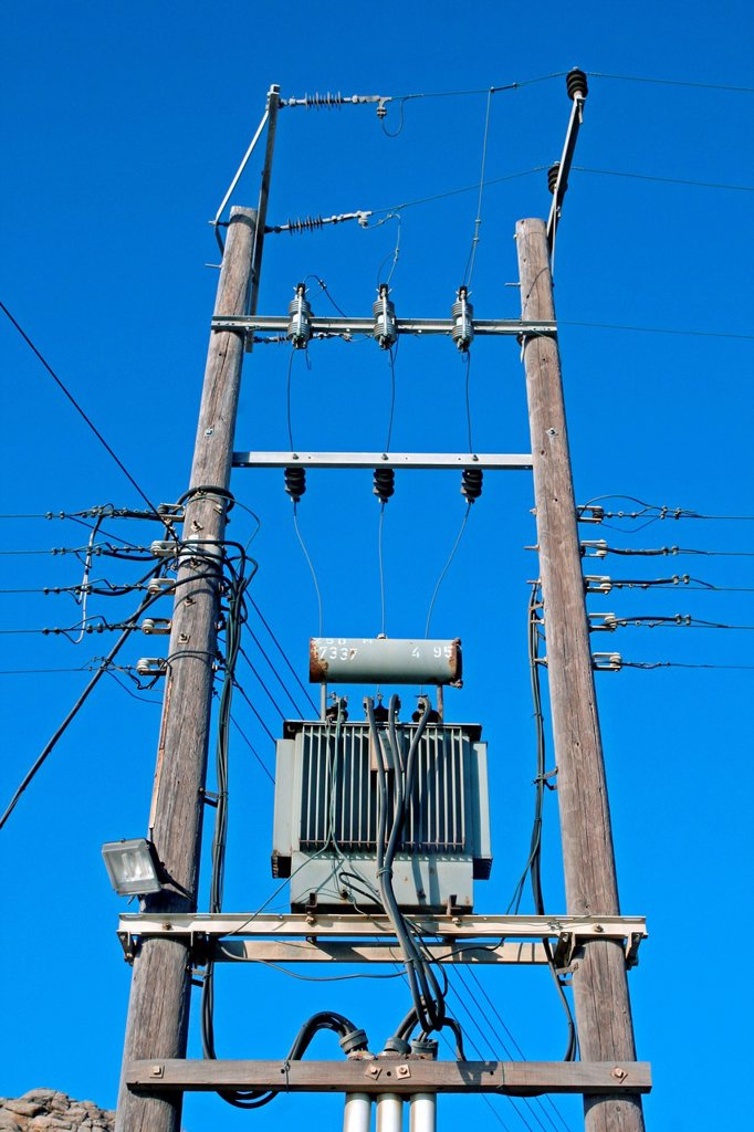 Stock Photo: 1566-1031530 electric transformer, Mykonos, Greece