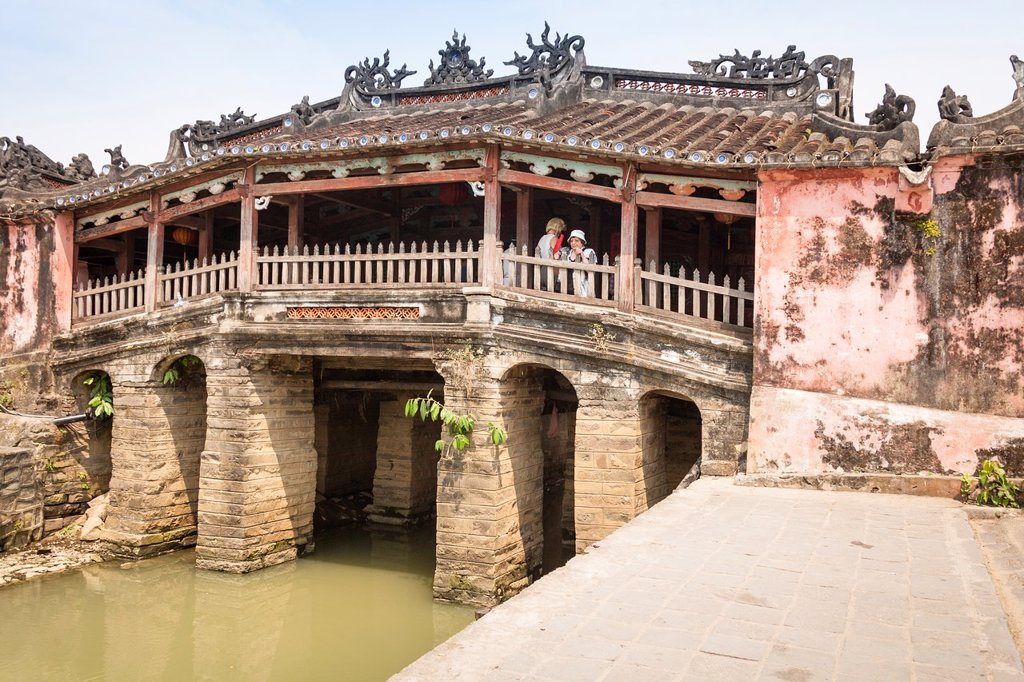 The Japanese covered bridge, Hoi An, Quang Nam province, Vietnam : Stock Photo