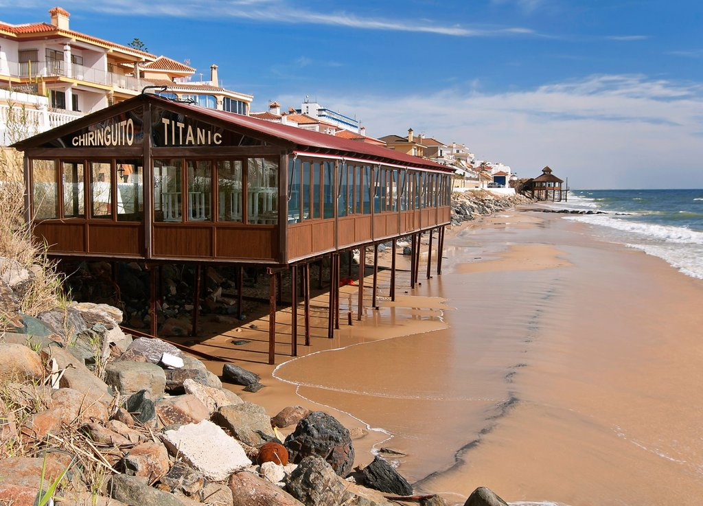 Stock Photo: 1566-1031586 Natural disaster, Matalascañas beach after strong storms of winter 2010, Almonte, Huelva-province, Spain