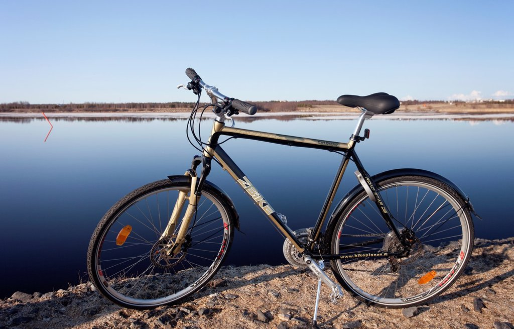 Stock Photo: 1566-1032014 Hybrid all purpose bike  Z-Bike   Location Oulu Finland Scandinavia Europe