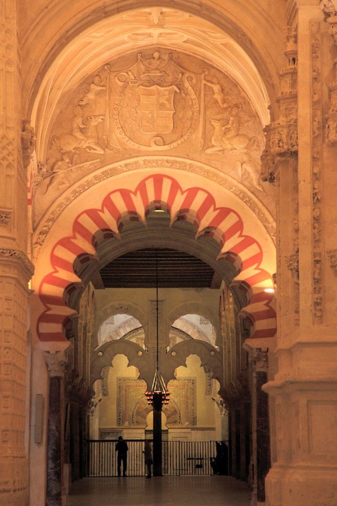 Stock Photo: 1566-1032051 Spain, Andalusia, Cordoba, Mezquita, Cathedral, interior,