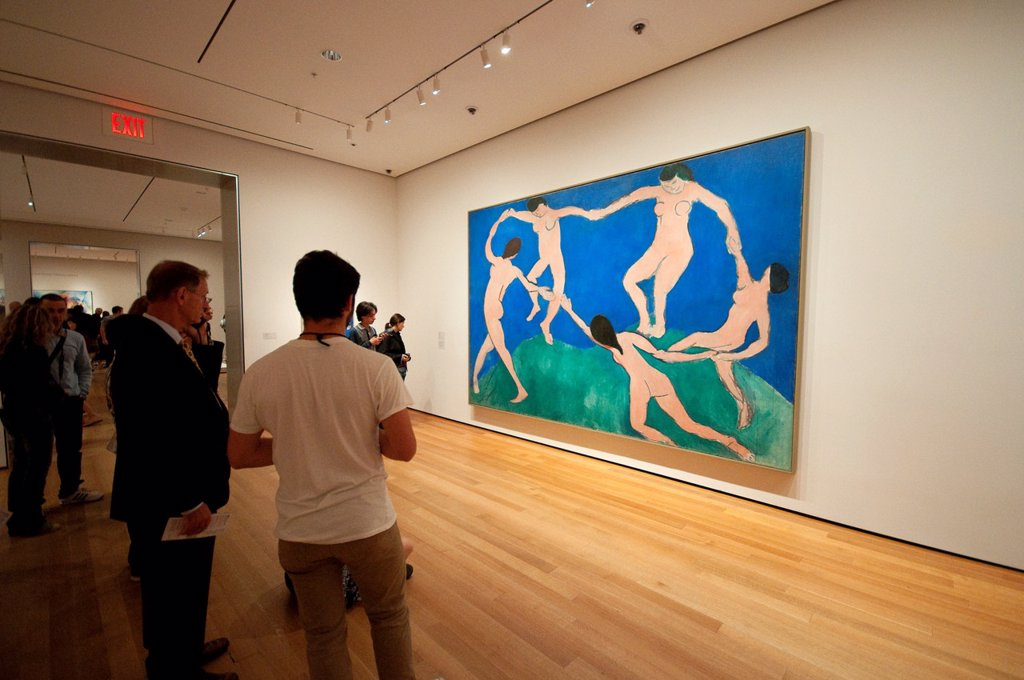 Stock Photo: 1566-1033385 USA, New York, New York City, Manhattan, Museum of Modern Art, MOMA, Dance I by Henri Matisse