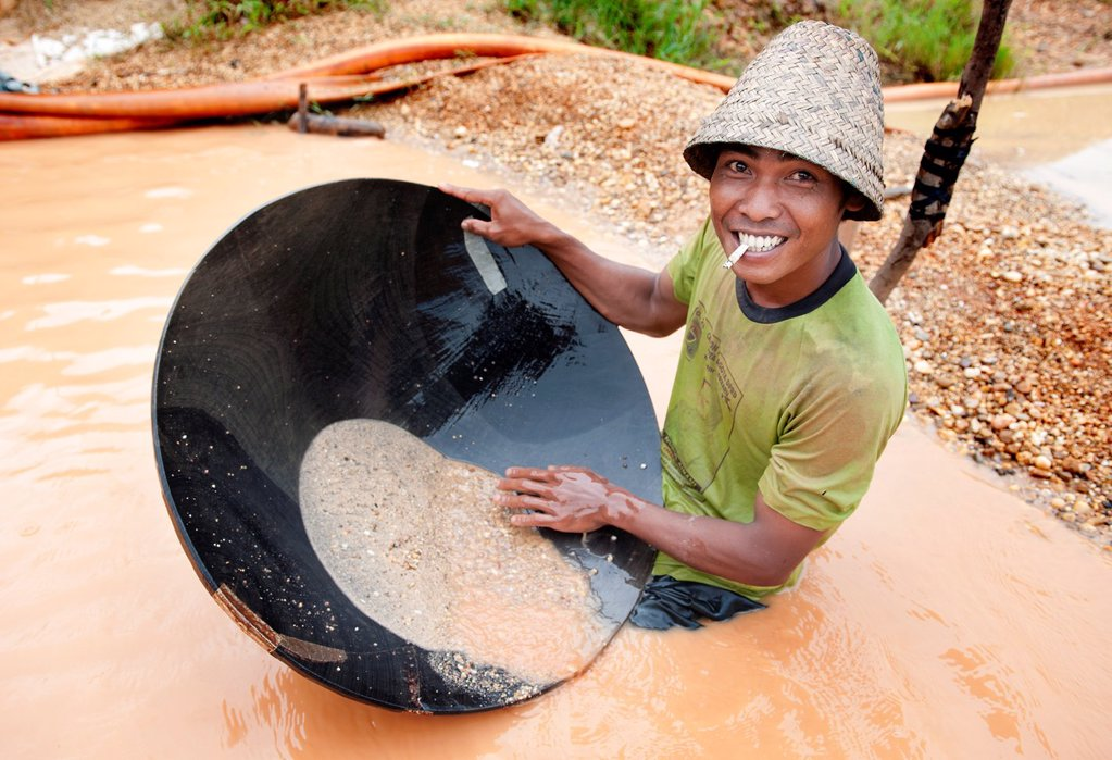 Diamond mine in cempaka, south kalimantan,borneo,indonesia,south-east asia : Stock Photo