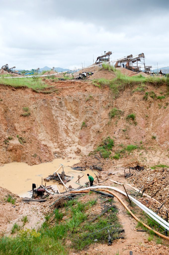 Stock Photo: 1566-1033671 Diamond mine in cempaka, south kalimantan,borneo,indonesia,south-east asia