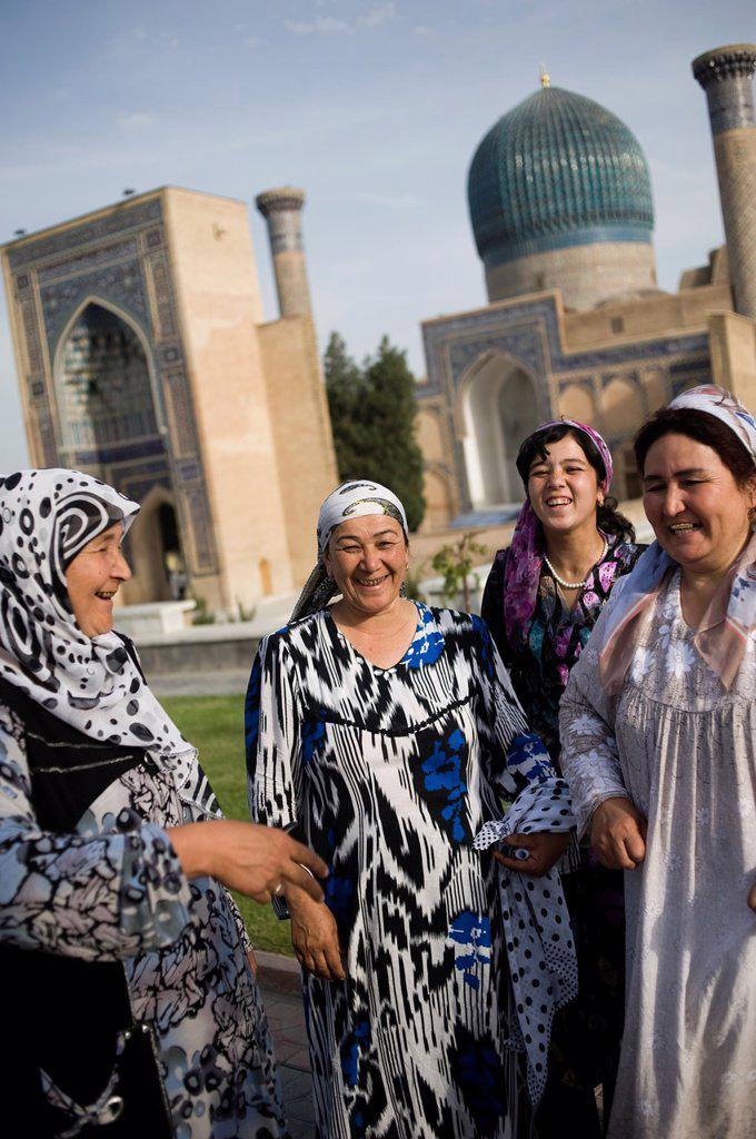 Stock Photo: 1566-1033690 Timur mausoleum, Samarkand, Uzbekistan