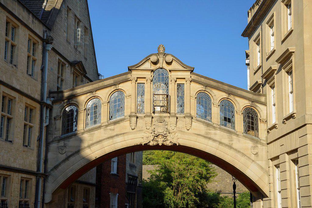 Stock Photo: 1566-1034753 Bridge of Sighs, Hertford College, Oxford, England, UK