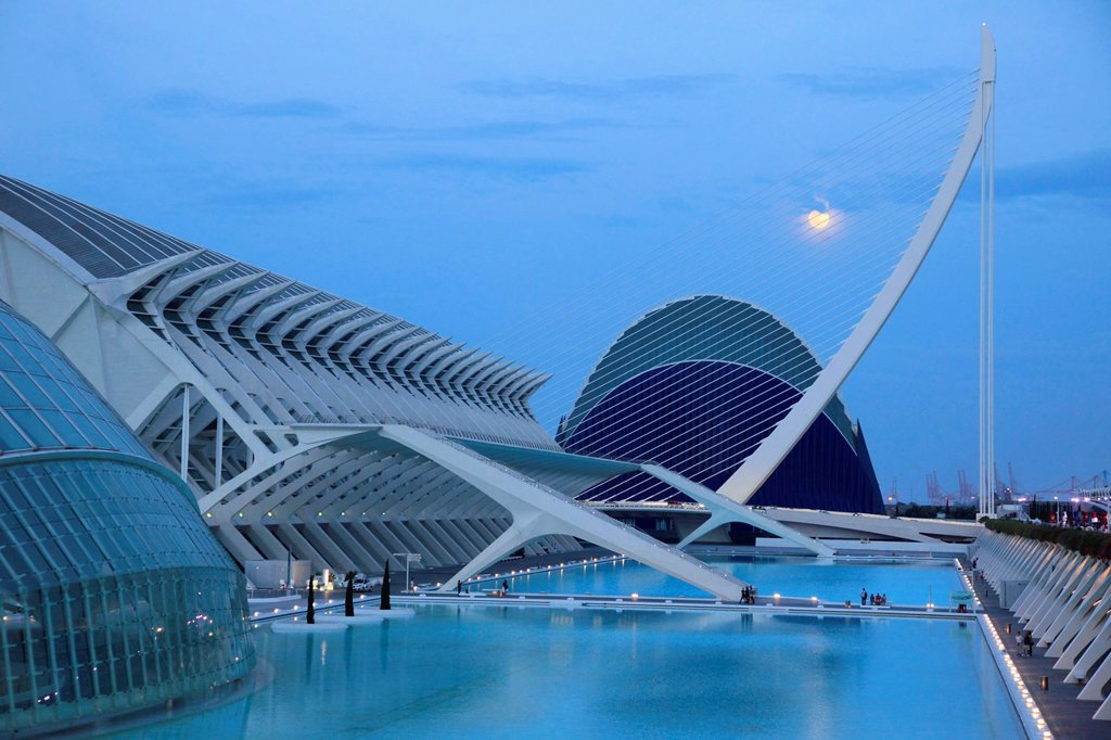 Stock Photo: 1566-1034758 Spain, Valencia, City of Arts and Sciences,