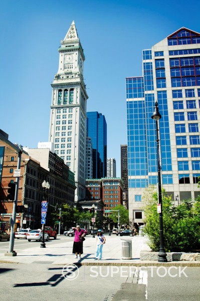 Stock Photo: 1566-1034971 Custom House Tower, Boston, Massachusetts, USA