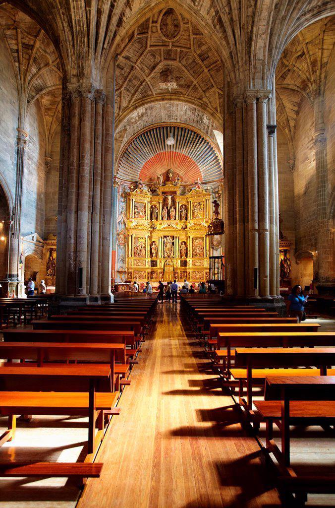 Stock Photo: 1566-1035235 Church of Santa Maria de los Reyes, Laguardia, Rioja Alavesa, Alava, Basque Country, Spain