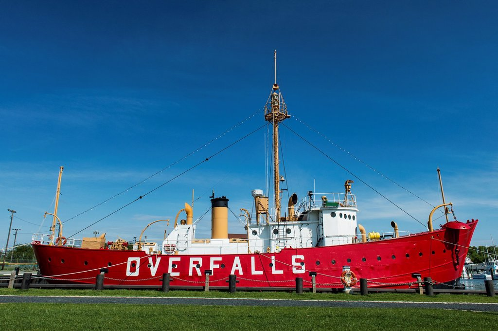 the Lightship Overfalls, Historic Lewes, Delaware, USA : Stock Photo