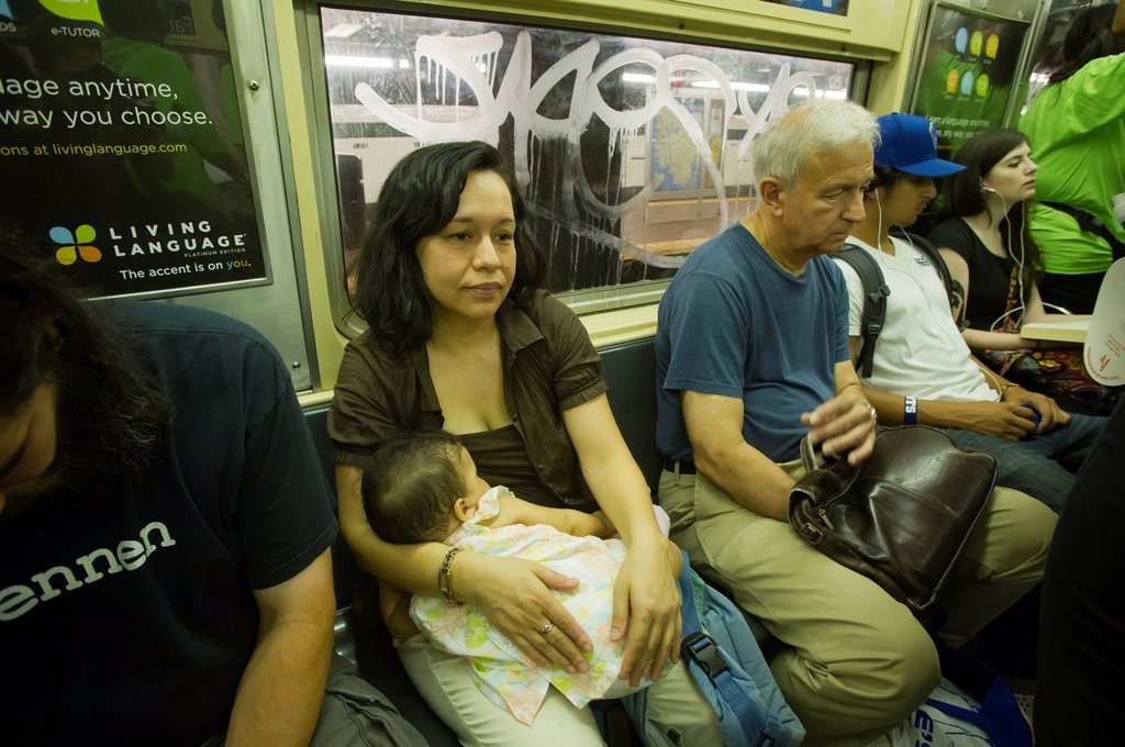 Stock Photo: 1566-1035596 Breastfeeding mothers and their supporters participate in a subway caravan to promote breastfeeding and to celebrate World Breastfeeding Week, In New York NYC Mayor Michael Bloomberg recently announced that city hospitals will be promoting breastfeeding a. Breastfeeding mothers and their supporters participate in a subway caravan to promote breastfeeding and to celebrate World Breastfeeding Week, In New York NYC Mayor Michael Bloomberg recently announced that city hospitals will be promoting bre