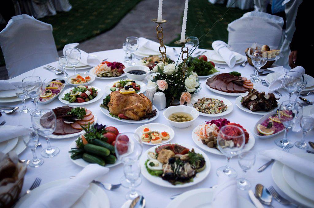 Stock Photo: 1566-1036738 Wedding at the Uzbekistan Hotel, Tashkent, Uzbekistan