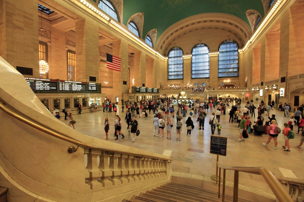 The interior view of Grand Central Terminal  Midtown Manhattan  New York City  USA. : Stock Photo