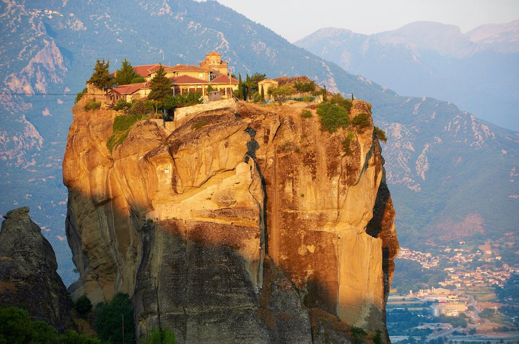 Greece, Thessaly, Meteora, Unesco World Hertitage, Holy Trinity monastery Agia Triada : Stock Photo