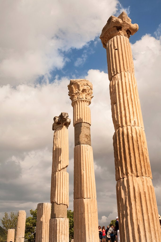 Stock Photo: 1566-1036859 Columns of the basilica, Ephesus, Turkey
