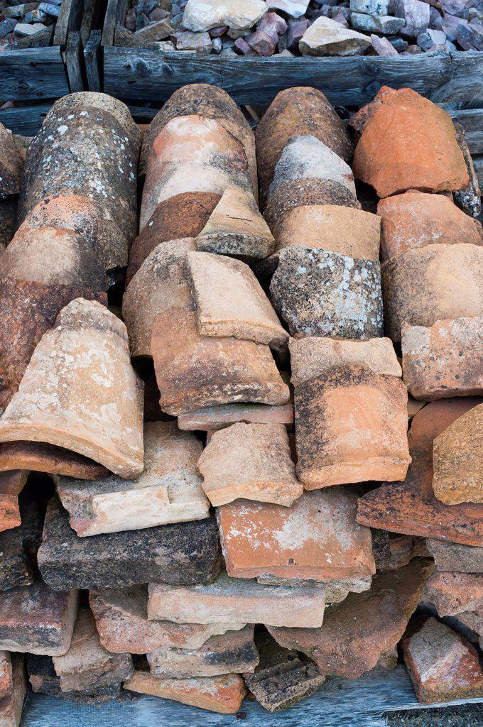 Stock Photo: 1566-1037172 Museum, Archaeological Site of Clunia Sulpicia, Burgos, Castilla y Leon, Spain, Europe